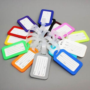 10PC-Travel-Luggage-Bag-Tag-Name-Address-ID-Label-Plastic-Suitcase-Baggage-Tags