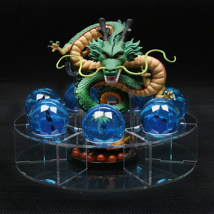 Dragon Ball Z Shenron Blau Crystal Balls Shelf Action Figures Collection Toys