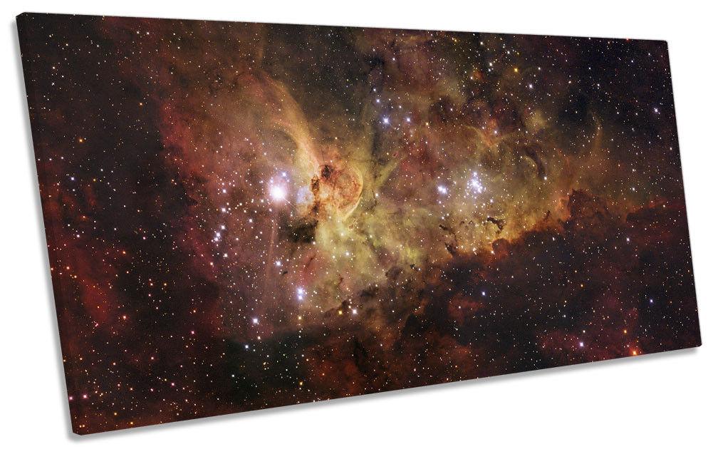 The Carina Nebula Milky Way PANORAMIC CANVAS WALL ART Print