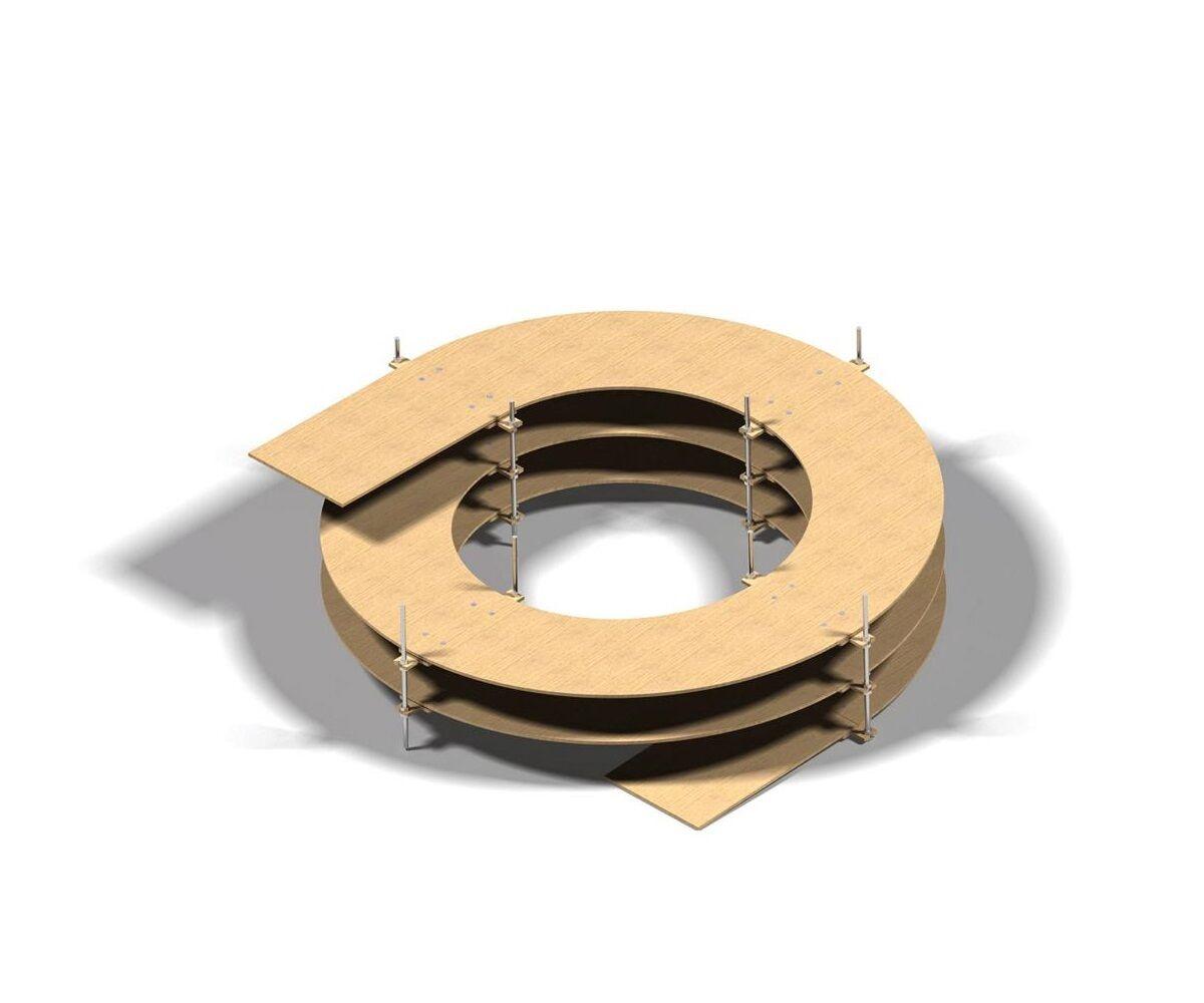 Gleiswendel 1-5,5 Umdrehungen, frei wählbar für H0 Gleise Gleise Gleise 2-gleisig, 8mm stark e69aa2