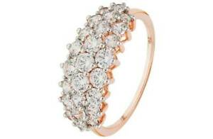 Revere-9ct-Rose-Gold-Cubic-Zirconia-Elongated-Cluster-Ring-M-N-O-P-rrp-129