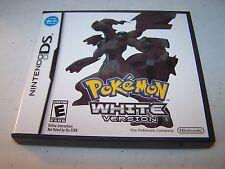 Pokemon White Version (Nintendo DS) Lite DSi XL 3DS 2DS w/Case & Manual