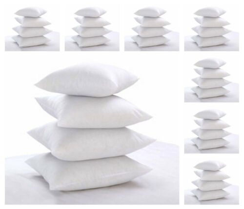 Pack of 2 Hollowfibre Scatter Cushion Pad Insert Filler Square Hotel Quality