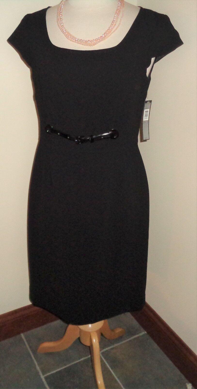 Tahari  schwarz Sheath Dress Größe 10 NWT Cap Sleeves