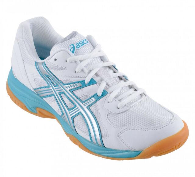 Damen Asics Gel Doha b250y 0193 weiß Schnürschuh Indoor Court Schuhe Sneaker