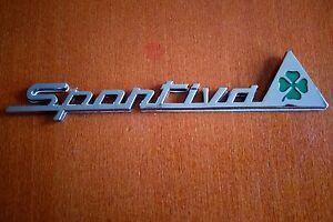 set of 2pcs sportiva quadrifoglio verde alfa romeo emblem insignia