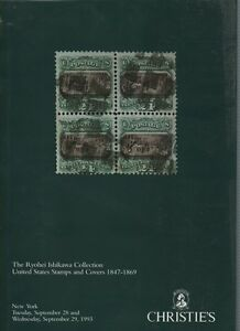 Christies Auction Catalogue Ishikawa Collection Us Stamps Covers 1847 69 Ebay