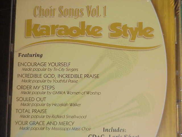 Choir Songs Volumes 1 and 2 Christian Karaoke Style CD G Daywind 12 Songs