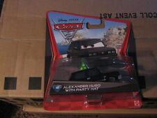 DISNEY PIXAR CARS 2  ALEXANDER HUGO  W/PARTY HAT