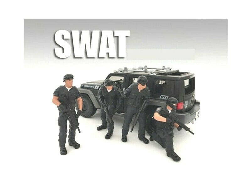 Special Weapons and Tactics Team 4 Piece Set figure for 1 24 Scale Models par American Diorama