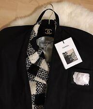 Original CHANEL Kleidersack L - Schwarz mit weissem CHANEL Logo - Hanger Bag