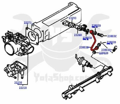 22re cold start wiring diagram toyota 22re cold start injector fuel supply metal line 23801 35010  toyota 22re cold start injector fuel