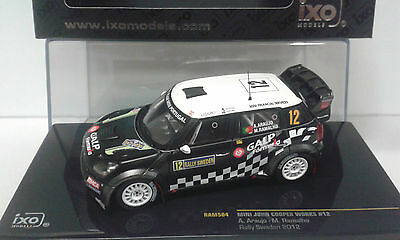 MINI JOHN COOPER WORKS #12 RALLY SWEDEN 2012 ARAUJO IXO RAM 504 1/43 RMN