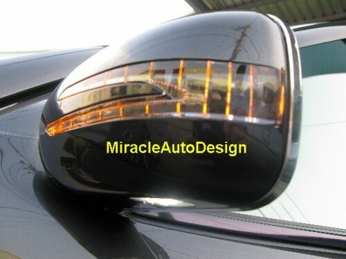 MIRROR COVERS FOR 1995-2000 MERCEDES BENZ W202 C-CLASS #197 2 ARROW LED BLACK
