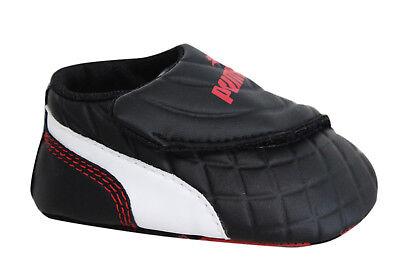 Puma Drift Cat 6 LW Crib Soft Sole Black Synthetic Baby Trainers 305184 01 A1C