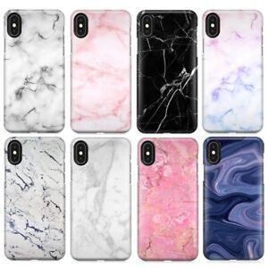 COVER-CUSTODIA-RIGIDA-Originale-Marmo-Marble-Per-Apple-Iphone-5-SE-6-7-8-X-Plus