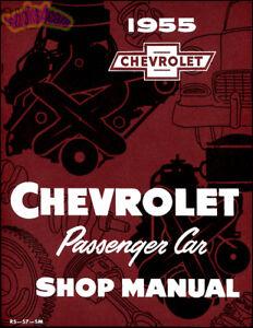 shop manual chevrolet service repair 1955 book 55 chevy 1956 56 ebay rh ebay com 1956 chevy shop manual 55 Chevy