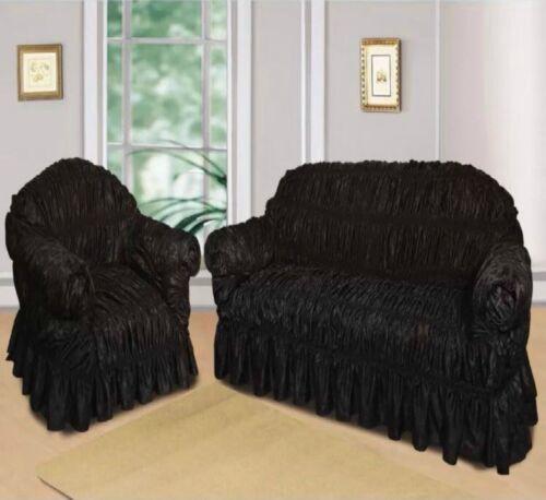 Canapé élastique jacquard Slip couvertures plaids Housses de fauteuil 1 2 /& 3 places