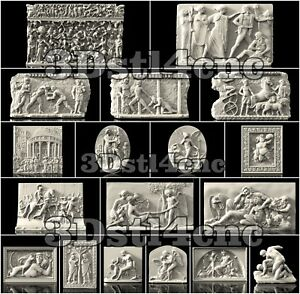 18-3D-STL-Models-Antique-Panels-for-CNC-Router-Carving-Machine-Artcam-aspire