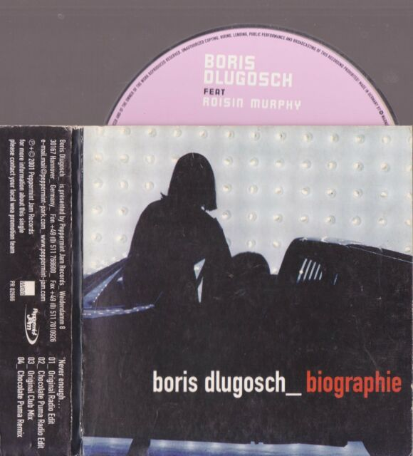 Boris Dlugosch - never enough - ROISIN MURPHY Biographie CD 2001 - 4 tracks prom