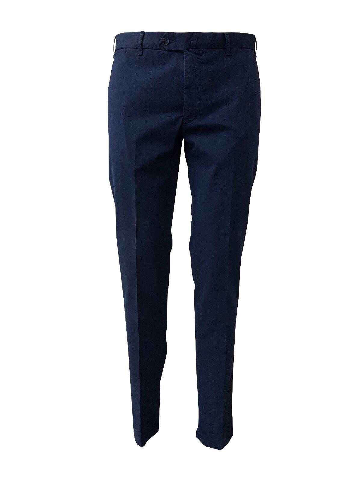 LUIGI BIANCHI Hose blau Multi-gefärbt Licht 98 % Baumwolle 2% Elasthan