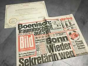 Details Zu Bildzeitung 20081985 August 2081985 Geschenk 34 35 36 37 38 Geburtstag