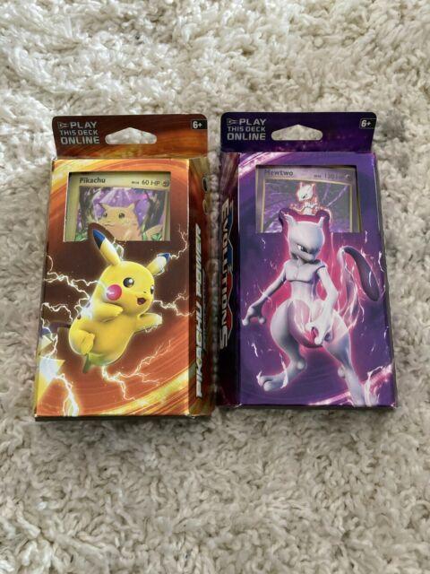 Pikachu Power & Mewtwo Mayhem XY Evolutions Theme Deck Pokemon TCG Cracked Ice