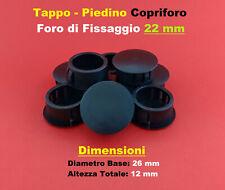 Tappo copriforo sanitari tipo pesante colore bianco 50 mm confezione da 10 pezzi