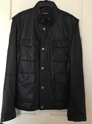 MICHAEL KORS Mens Coat Jacket XL Leather Vest NWT Sheepskin Removable Sleeves