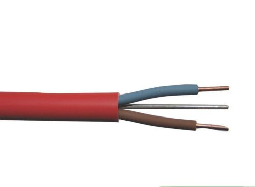 FP200 1.5 mm 2 C E rouge alarme incendie Câble 10 mètres Stock Longueur rack