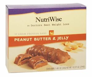 NutriWise - Peanut Butter & Jelly Diet Protein Bars (7 ...