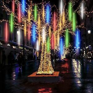 50CM-LED-Christmas-Lights-Meteor-Shower-Rain-8-Tube-Snowfall-Tree-Outdoor-Decor