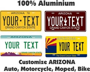Arizona Personalized Plates >> Details About Arizona Custom Personalized Car Motorcycle Moped Bike Bicycle License Plate Tag
