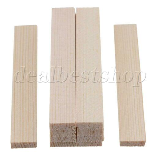 10x Square Bamboo Wood Sticks 80mm Length for Craft Model Building Construction