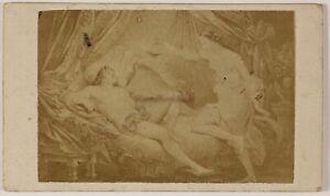 Foto Di Dopo Peinture Amour Addormentato Francia CDV PL52L4n21 Vintage Albumina