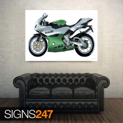 Motorbike Poster BENELLI TORNADO TRE LE 1623 Poster Print Art A1 A2 A3 A4