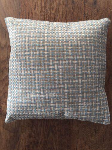 1 S Bleu /& Crème 38cmx38cm Housse de coussin décoratif
