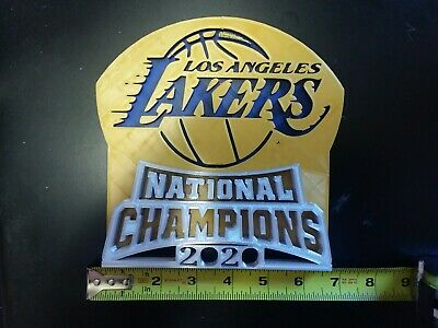New LA Lakers NBA National Champions 2020 3D Logo plague ...