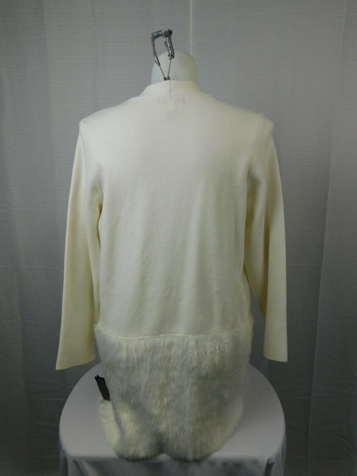 Alfani Plus Size Open Front Eyelash Faux-Fur Faux-Fur Faux-Fur Cardigan 0X, Cloud Ivory 8f0b12