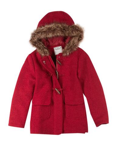 EX Marks and Spencer BAMBINE CON CAPPUCCIO CON PELLICCIA TERMICA Montgomery in lana