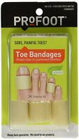 Profoot Toe Bandages, One Size, 3 Bandages, Trim To Fit on sale