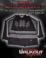Triple H Wwf Wwe Wrestling Vintage Black Gray Motocross Jersey
