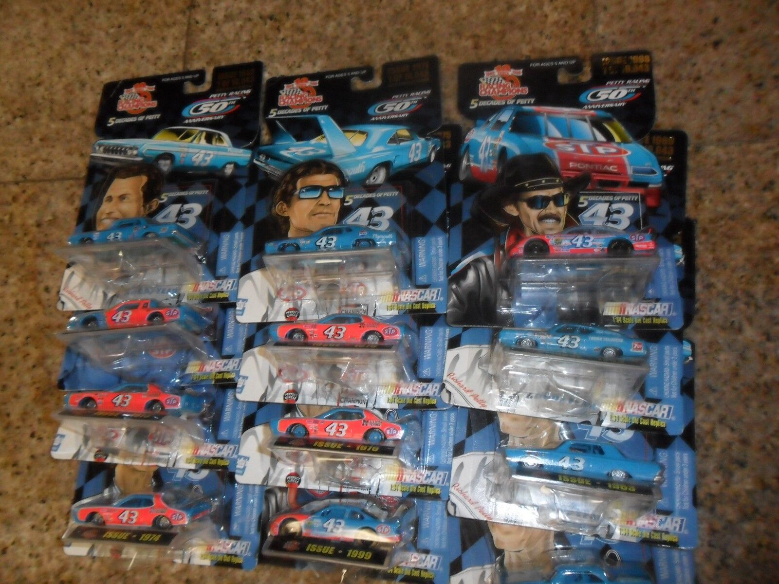 12 LOT DIFFERENT Racing Champion 5 Decades of Petty 1 64 Scale Diecast 1962-1999