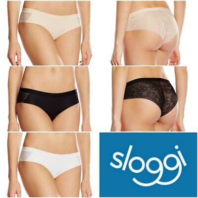 French Nude Ladies Sizes UK 8-16 New Sloggi  Hipster Touch It Trend H Black