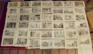 42-Ancienne-gravure-XIX-Histoire-des-civilisations-LOUIS-XIII-Louis-XIV-Clovis