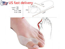 US Silica gel 4Pcs Bone Thumb Braces Correction Eversion Foot Big Toe Separator