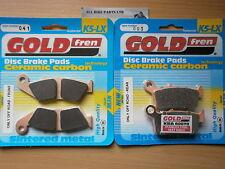 HONDA XR 650 L XR650 2009 > FULL SET SINTERED FRONT & REAR BRAKE PADS *GOLDFREN*