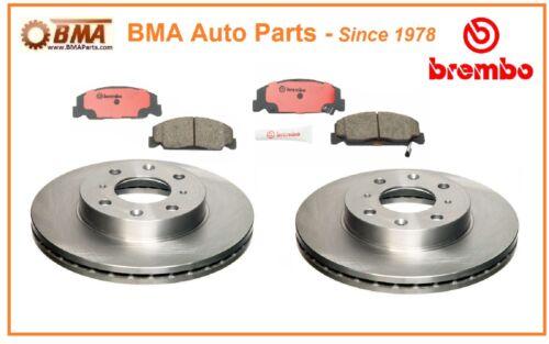 Brembo Front Brake Kit Disc Brake Rotors /& Brake Pads CIVIC CRX DEL SOL P28055N