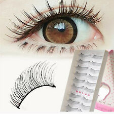 Hot Natural False Eyelashes Pestañas Postizas Cosmético Para Mujer 10Pairs