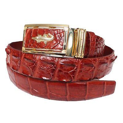 Men/'s Belt Genuine Crocodile Alligator Skin Leather Belt Handmade #BD2102